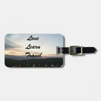 Love, Learn, Travel Customizable Luggage Tag