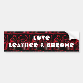 Love leather & chrome sticker