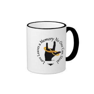 Love Leaves a Memory 11oz Ringer Coffee Mug