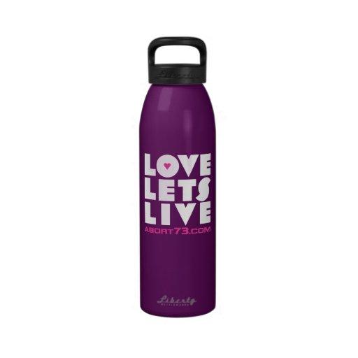 Love Lets Live Reusable Water Bottle Zazzle