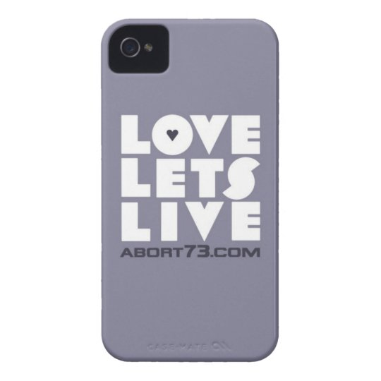 Love Lets Live (Slate) / Abort73.com iPhone 4 Case-Mate Case