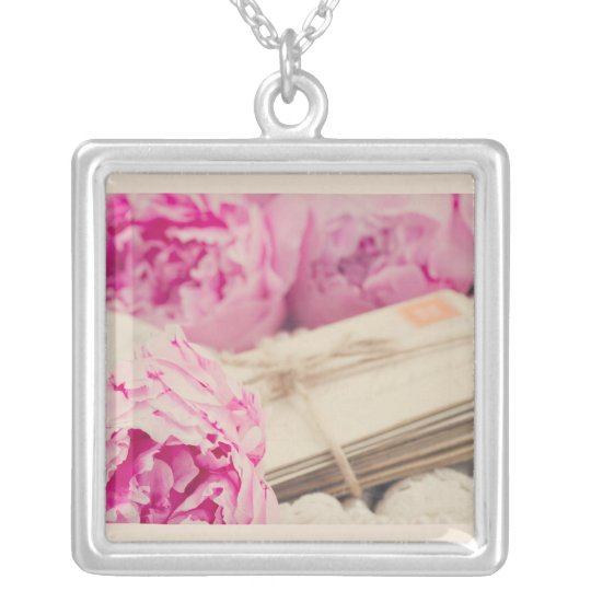Love letter pendant silver plated necklace