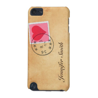 Love letter with heart postage stamp iPod case iPod Touch (5th Generation) Covers