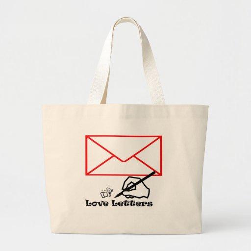 Love letters canvas bags