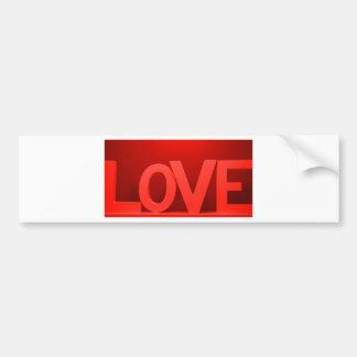 love letters bumper sticker