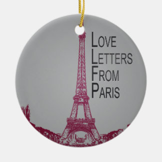 Love Letters From Paris Christmas Ornament