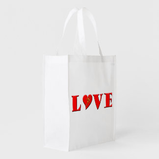 LOVE Letters ( L♥VE) Grocery Bags