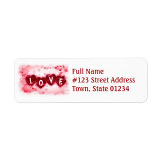 Love Letters Mailing Label Return Address Label