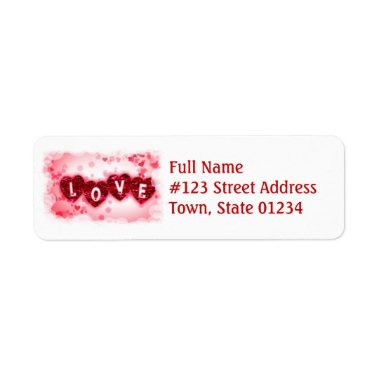 Love Letters Mailing Label Return Address Label