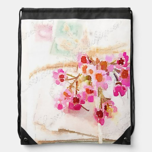 Love Letters Drawstring Bags