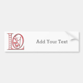 Love Letters With Hearts Bumper Sticker