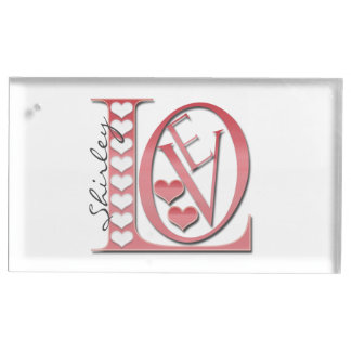 Love Letters With Hearts by Shirley Taylor Place Card Holder
