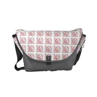 Love Letters With Hearts Courier Bags