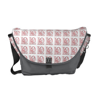 Love Letters With Hearts Commuter Bags