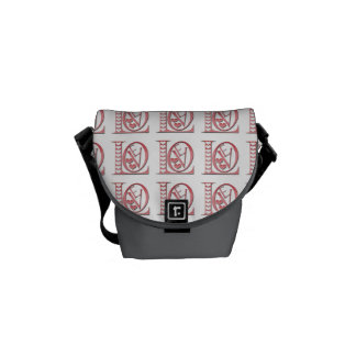 Love Letters With Hearts Messenger Bags