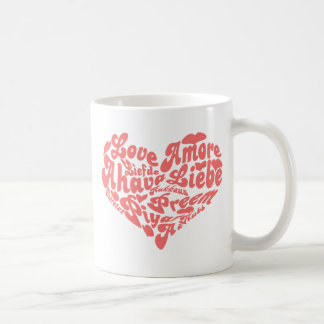 Love Liebe Amour in all Languages Mug