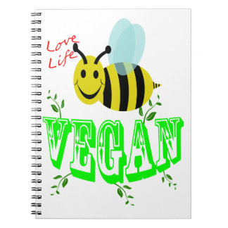 love life bee vegan notebooks