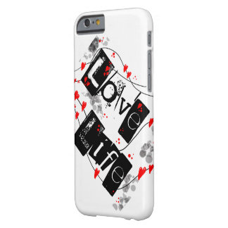 Love Life black,red,hearts,dots text phone case