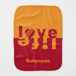Love / Life burp cloth