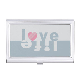 Love / Life business card holder