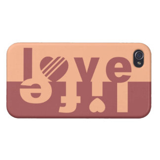 LOVE LIFE Case Savvy cases Cover For iPhone 4