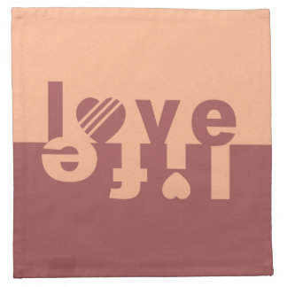 LOVE LIFE cloth napkins