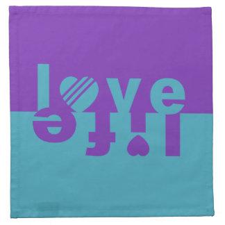 LOVE LIFE cloth napkins