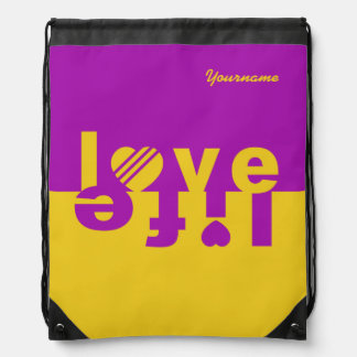 Love / Life custom bag