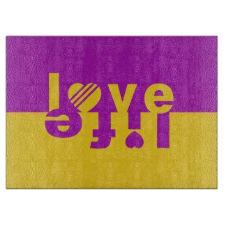 Love / Life custom cutting board