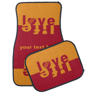 Love / Life custom monogram car floor mats