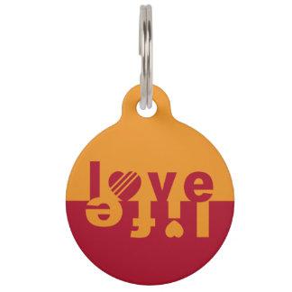Love / Life custom pet tags