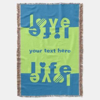 Love / Life custom throw blanket