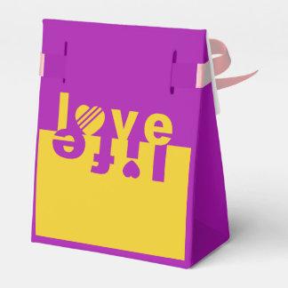 Love / Life favor boxes