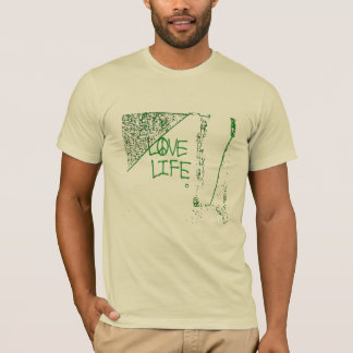 Love Life Graffiti Basic American Apparel T-Shirt