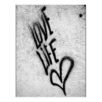 Love Life Graffiti Postcard