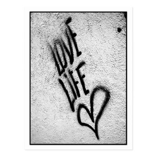 Love Life Graffiti Postcard Postcard