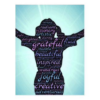 Love Life: Inspiration...Gratitude...Joy Postcard