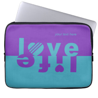 LOVE LIFE laptop sleeves