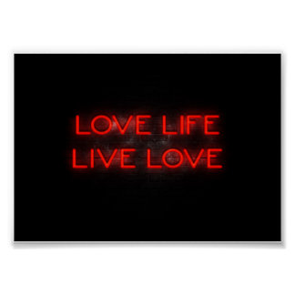 Love life live love poster