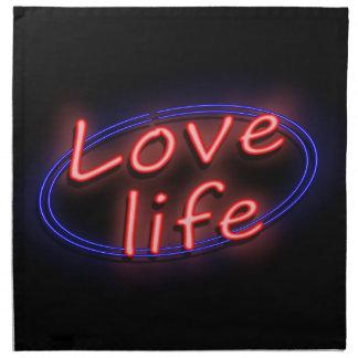 Love life. napkin