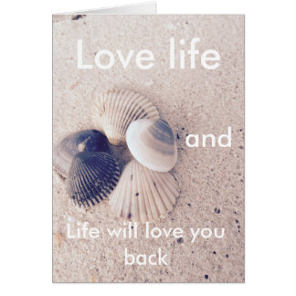 Love life- positive quotes -postcard card