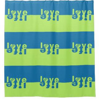 Love / Life shower curtain