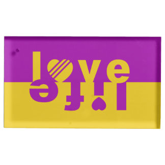 Love / Life table card holder
