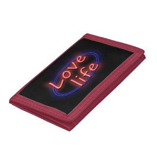 Love life. tri-fold wallet