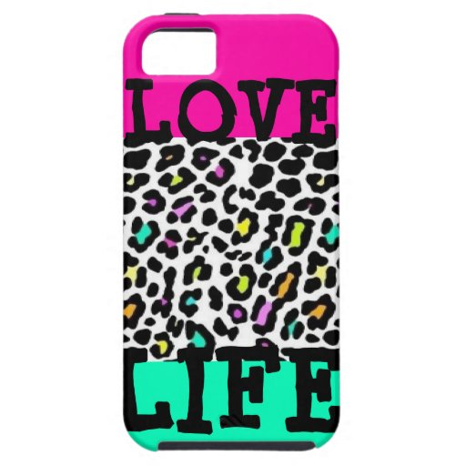 Love Life with Leopard Print iPhone 5 Covers
