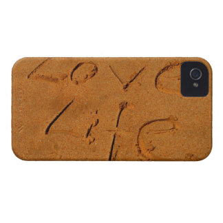 'Love Life' written in Sand iPhone 4 Case