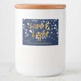 Love & Light | Faux Foil Lovely Bokeh Hanukkah Food Label