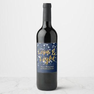Love & Light | Faux Foil Lovely Bokeh Hanukkah Wine Label