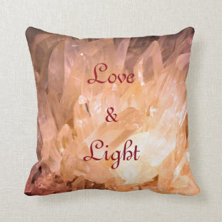 Love & Light  natural crystal design Cushion