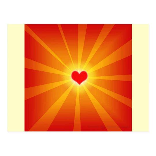 Love Light Shine Line Postcard